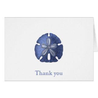 Obrigado azul do dólar de areia você cartões de
