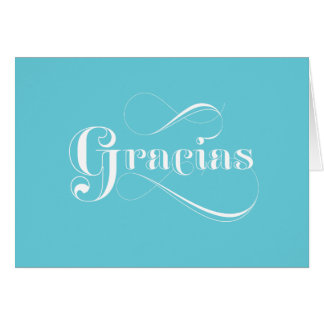 Obrigado azul do espanhol de Gracias você cartões