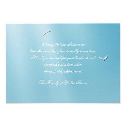 Obrigado azul do falecimento do céu você Notecard Convite Personalizados
