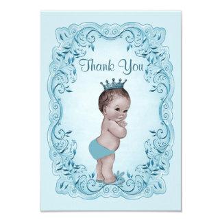 Obrigado azul do príncipe chá de fraldas do convite 8.89 x 12.7cm