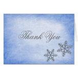 Obrigado azul dos flocos de neve da faísca do inve cartao