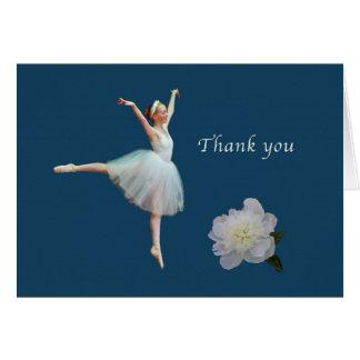 Obrigado, bailarina, peônia, cartão