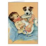 Obrigado bonito do cão de filhote de cachorro da cartao