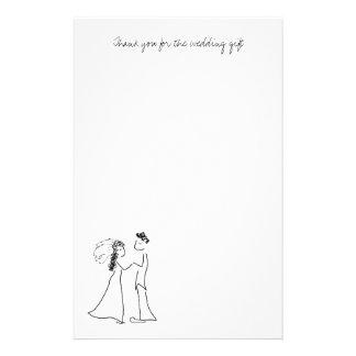 Obrigado bonito do casal você papel de nota papelaria