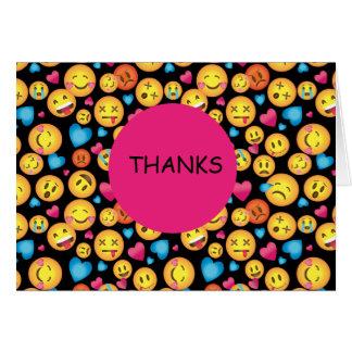Obrigado bonito do impressão de Emoji você cartões