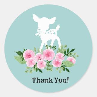 obrigado bonito dos cervos você etiquetas