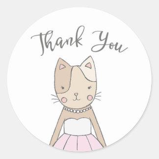 Obrigado bonito e lunático do gatinho você adesivo