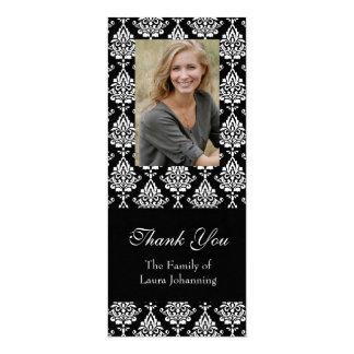Obrigado branco da simpatia do damasco você cartão