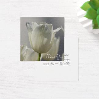 Obrigado branco da tulipa você notas cartão de visitas quadrado