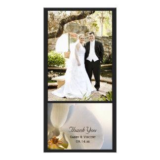 Obrigado branco do casamento da elegância da cartão