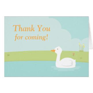 Obrigado branco do partido do pato você cartão de