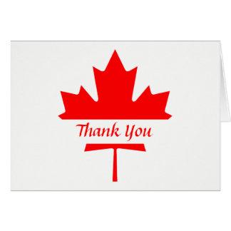 Obrigado branco e vermelho da folha de bordo você cartão de nota