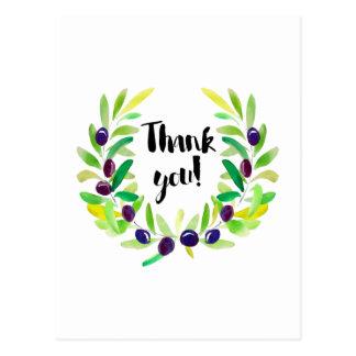Obrigado brilhante e fresco você cartão cartão postal