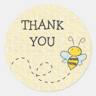 Obrigado Bumble a etiqueta da abelha