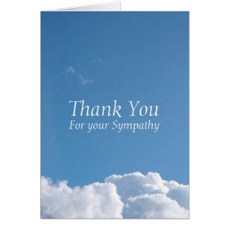 Obrigado calmo da simpatia do céu 1 você cartão de