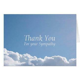 Obrigado calmo da simpatia do céu 2 você cartão de