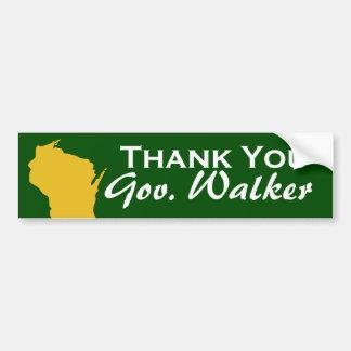 Obrigado caminhante de Scott do governador de Wisc Adesivos