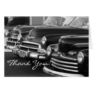 Obrigado cartão clássico dos carros