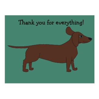 Obrigado cartão com Dachshund