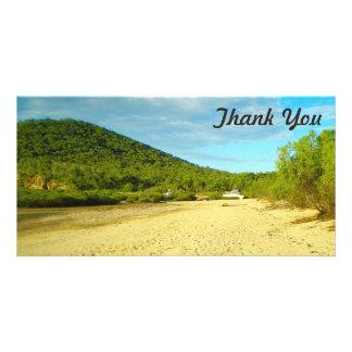 Obrigado cartão com fotos - baía de Stanage