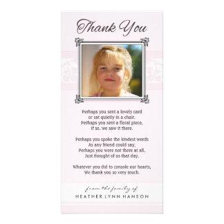 Obrigado cartão com fotos cor-de-rosa & branco