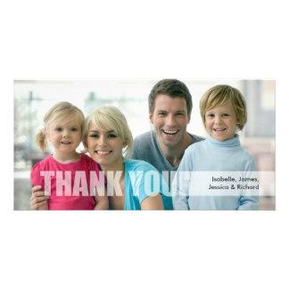 Obrigado cartão com fotos da família cartão com foto