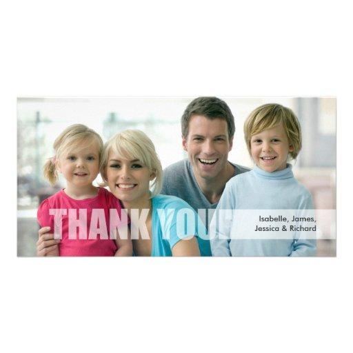 Obrigado cartão com fotos da família