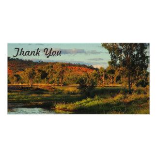 Obrigado cartão com fotos - Dajarra
