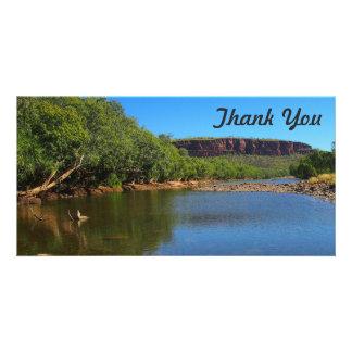 Obrigado cartão com fotos - rio de Victoria