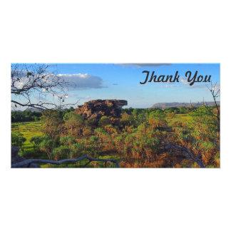 Obrigado cartão com fotos - rocha de Ubirr, Kakadu
