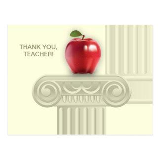 Obrigado cartão customizáveis do professor