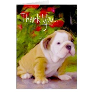 Obrigado cartão da arte do filhote de cachorro do