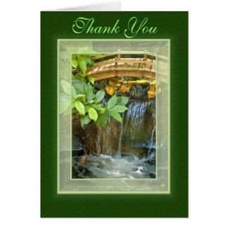 Obrigado cartão da cachoeira