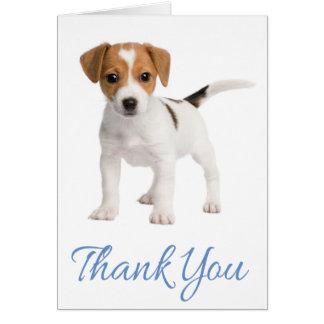 Obrigado cartão de nota do cão de filhote de
