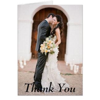 Obrigado cartão de nota do casamento da foto