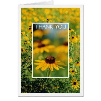 Obrigado - cartão de olhos pretos de Susans