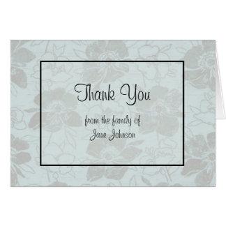Obrigado cartão de simpatia