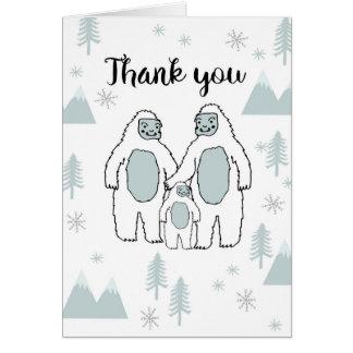 Obrigado cartão do bebê do Yeti por Andrea Lauren