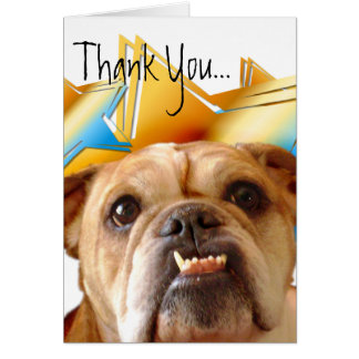 Obrigado cartão do buldogue