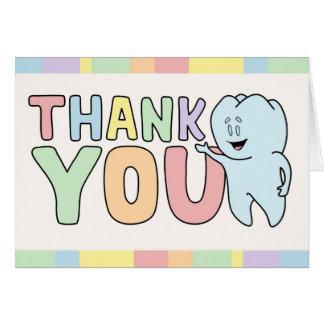 """""""Obrigado"""" cartão do dente"""
