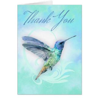 Obrigado - cartão do impressão do colibri da