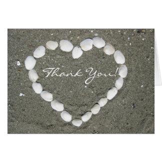 Obrigado cartão dos escudos dos moluscos