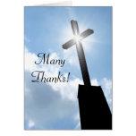 Obrigado cartão espiritual religioso