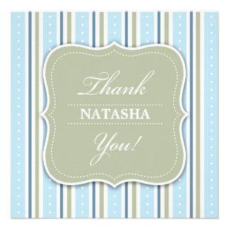 Obrigado cartão liso do chá do bebé convites personalizados