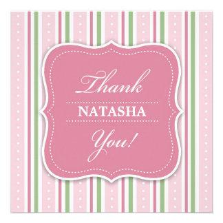 Obrigado cartão liso do chá do bebé convites personalizado