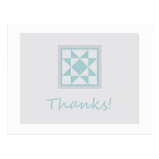 Obrigado cartão - Star o bloco da edredão