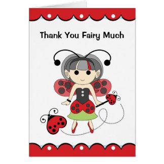 Obrigado cartão vermelho muito bonito da fada do