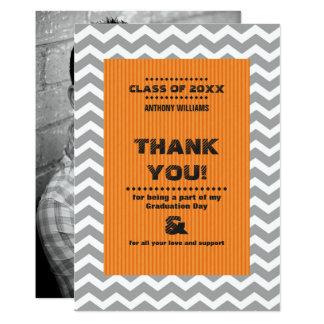 Obrigado cartões com fotos do costume da graduação convite 12.7 x 17.78cm