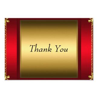 Obrigado cartões de agradecimentos vermelhos do convite 8.89 x 12.7cm