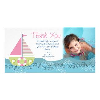 Obrigado cartões de fotos da festa de aniversário  cartao com foto personalizado